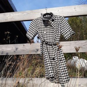 Club monaco black and white gingham jacket